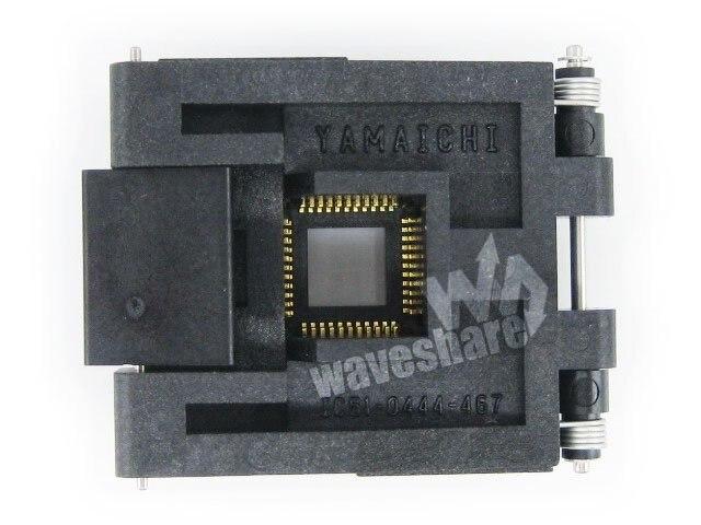 ФОТО QFP44 TQFP44 FQFP44 PQFP44 51-0444-467 Yamahi QFP  Test Burn-in Socket Programming Adapter 0.8mm Pitch