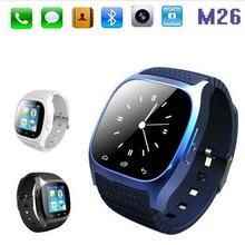 2016 wasserdichte Smartwatch M26 Bluetooth Smartwatch mit Led-anzeige Zifferblatt Anruf Musik-player Schrittzähler für IOS Android Handys # B4