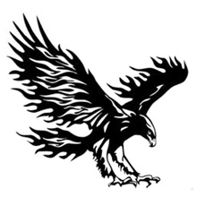 14.4cm*13.8cm Animal Eagle Car-Styling Motorcycle Car Sticker Vinyl Decal Black/Silver S3-6495