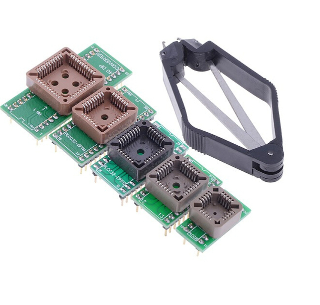IC Socket PLCC20 PLCC28 PLCC32 PLCC44 Programmer Adapter Kit  for TL866CS /A EZP2010