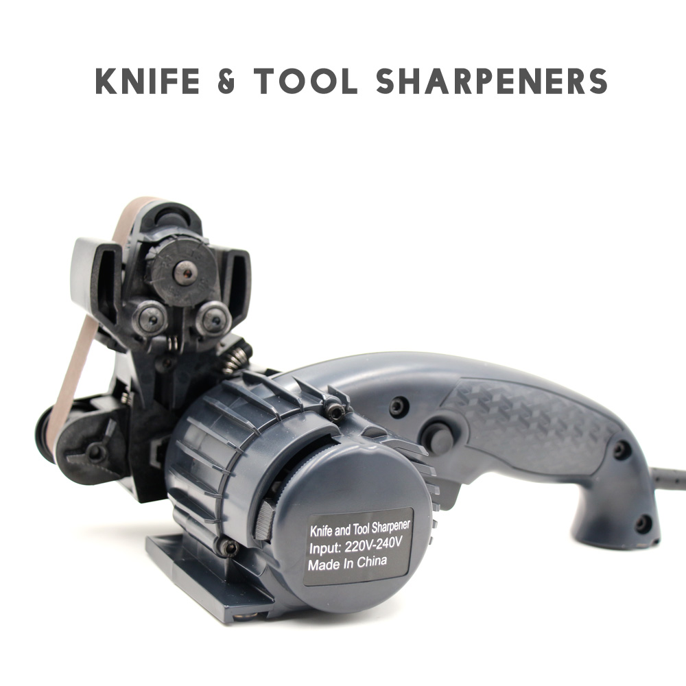 LIHUACHEN Electric Knife Sharpener Automatic Grinding Adjustable For Kitchen Knives Tool Sharpener abrasive belts for freeLIHUACHEN Electric Knife Sharpener Automatic Grinding Adjustable For Kitchen Knives Tool Sharpener abrasive belts for free