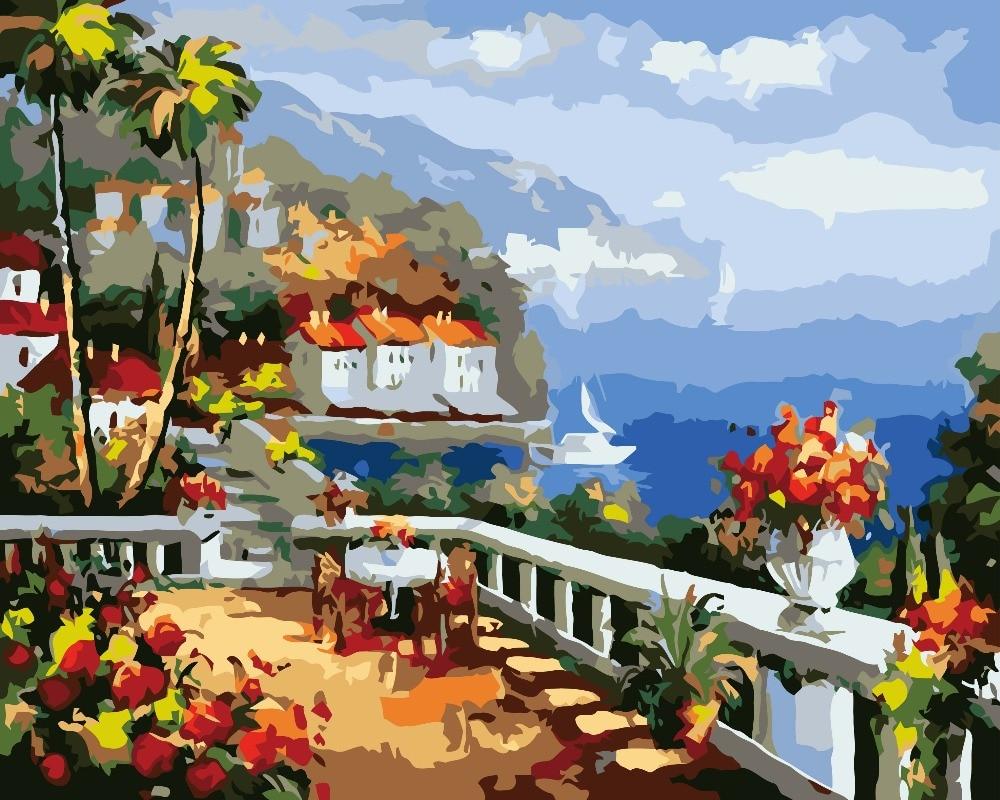 Online kopen wholesale natuur acryl schilderijen uit china natuur ...