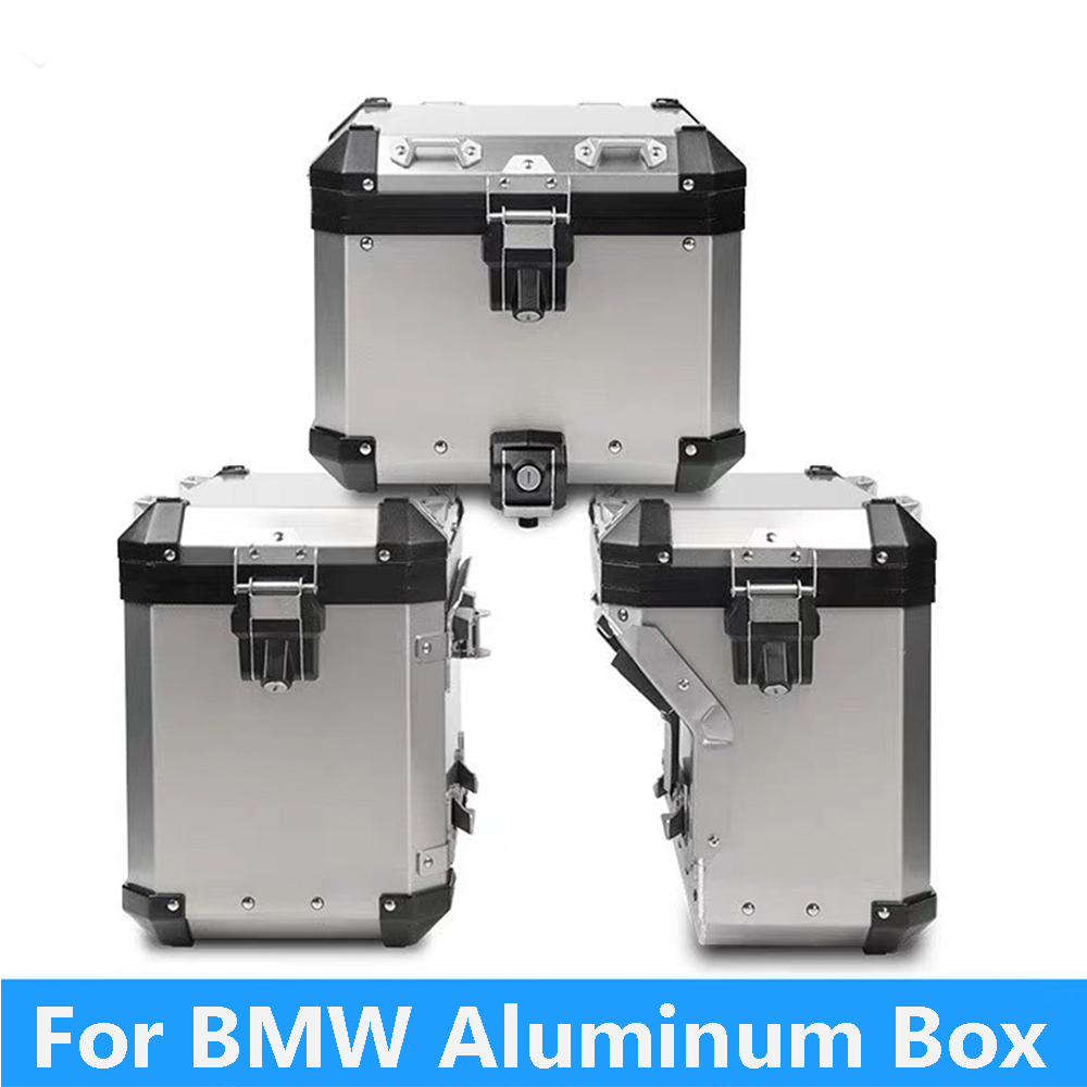 For R1200GS ADV LC R1250GS/ADV LC 2014 2019 Motorcycle Panniers Saddlebag Top Case Box Stainless Steel Orignal Style-in Covers & Ornamental Mouldings from Automobiles & Motorcycles
