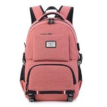 USB 충전 노트북 배낭 여성 학교 배낭 청소년을위한 Schoolbag 남자 학생 책 가방 소년 Satchel 여행 가방