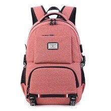 Usb 充電ノートパソコンのバックパック女性ランドセル通学ティーンエイジャーマンズ学生ブックバッグ男の子旅行バッグ