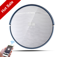 LIECTROUX Robot Vacuum Cleaner X5S WIFI App Control Zigzag Planned Cleaning Type Water Tank Lionthium Battery Remote HEPA Filter