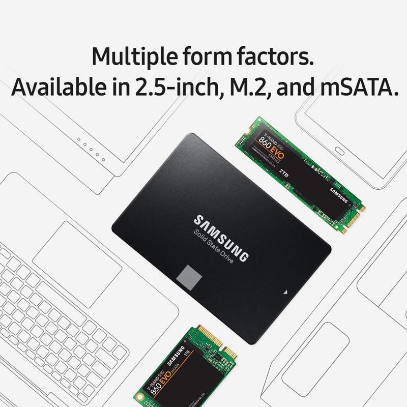 Samsung 500GB SSD Flash Memory HDD Disk 1TB 2TB 4TB Promotional Dropshipping Solid State Drive 860 EVO V-NAND 2.5