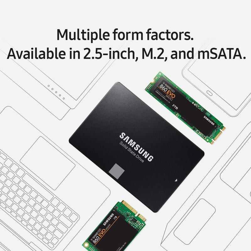 """Samsung SSD DA 500 GB di Memoria Flash Disk HDD 1 TB 2 TB 4 TB Promozionale Dropshipping Solid State Drive 860 EVO V-NAND 2.5 """"SATA III 250G"""