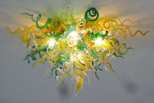 Art Gallery Murano Yellow Wrought Iron Chandelier