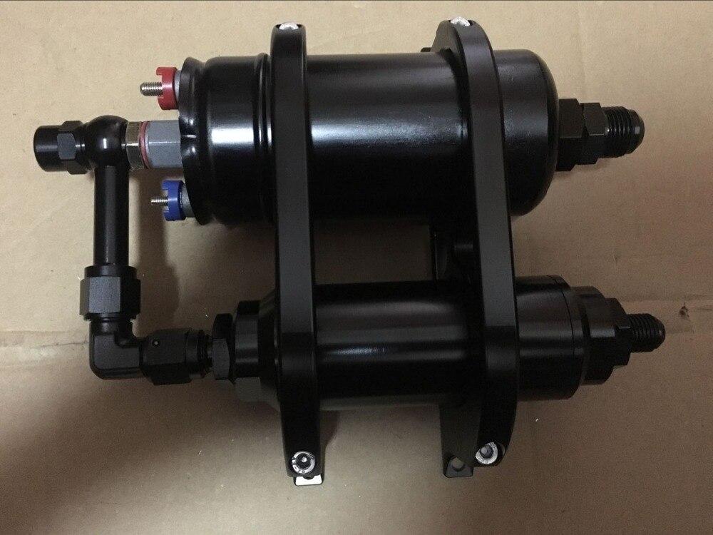 필터 및 044 펌프가있는 새로운 44mm 및 60mm id 이중 이중 빌렛 연료 펌프 필터 장착 브래킷 클램프 키트
