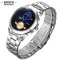 BOSCK Fashion Men's Quartz Bracelet Watches Stainless Steel Role Gold Watches Men's Business Casual Wristwatch 5395 reloj hombre