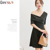 Bersun 2017 New Arrivals Japanese Korean Sexy Dress Top Brand Summer Retro Fashion Dress Women Black
