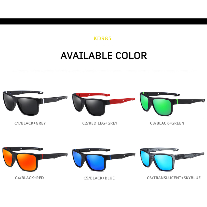 KDEAM Sport Strong Line Mens Sunglasses Polarized Racing Life Sun Glasses Men Action packed Mirror Sunglass Include Box in Men 39 s Sunglasses from Apparel Accessories