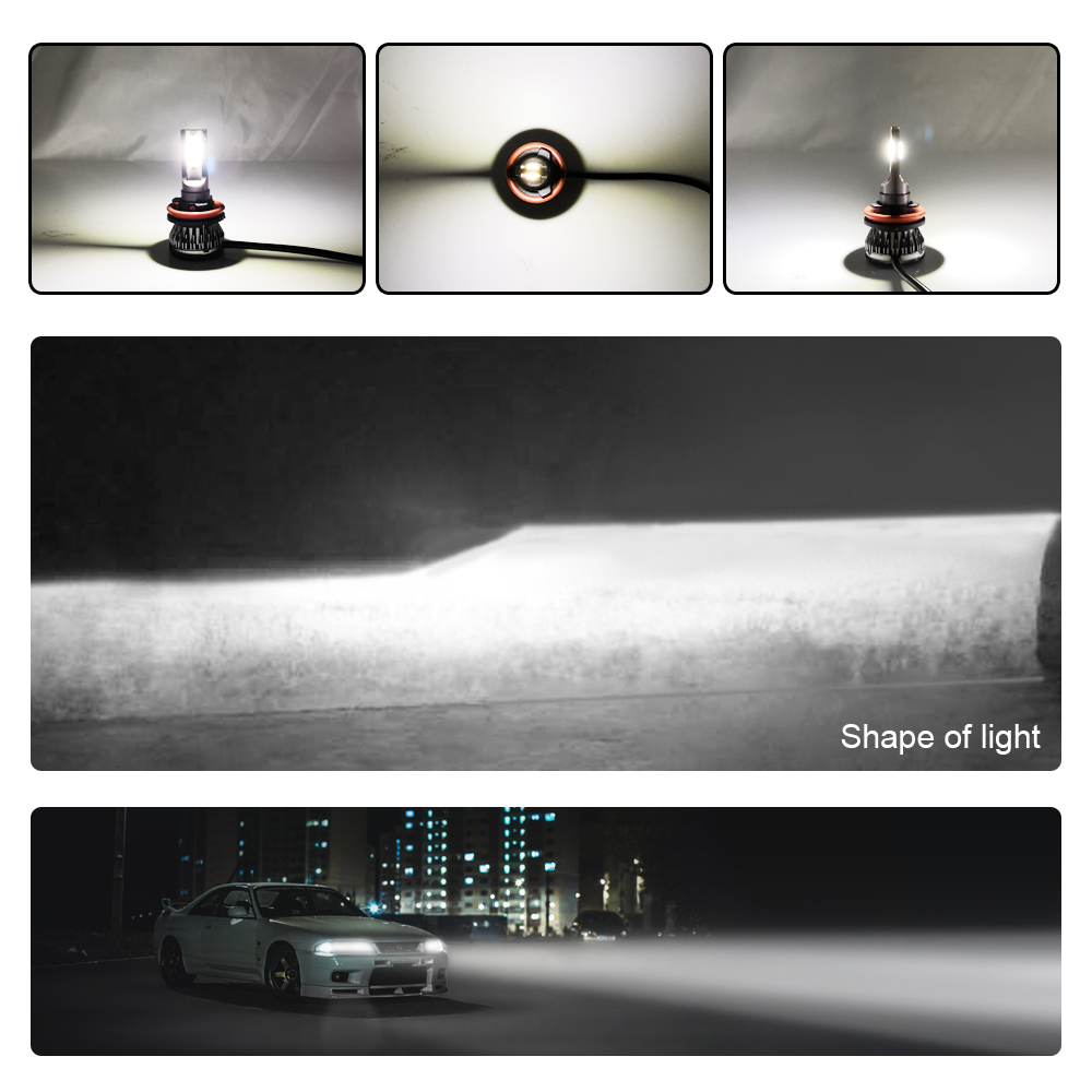 2 шт. мини Размеры H4 H7 светодиодный H1 H11 H8 H9 HB4 HB3 9005 9006 светодиодный головной светильник лампы Автомобильный светильник тумана светильник s 90 Вт 60500 к 12000lm 12v