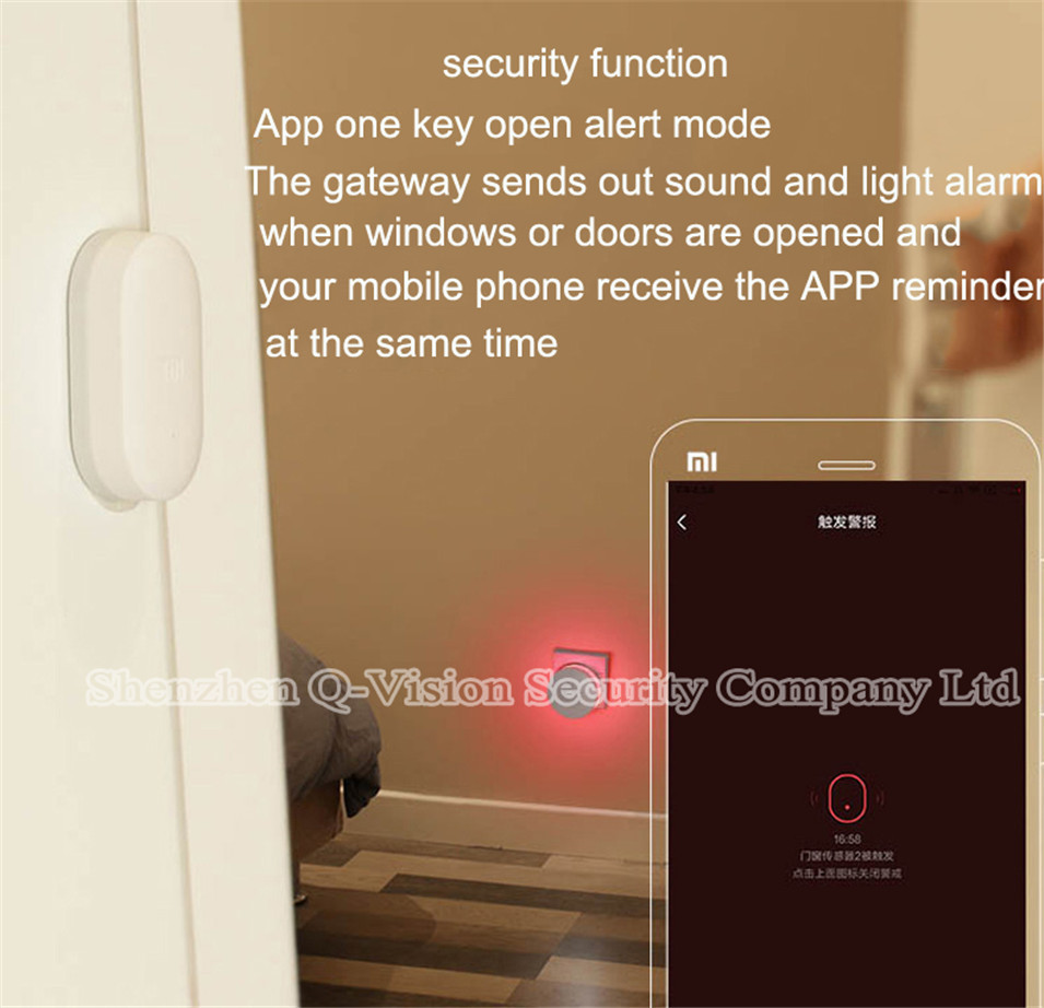 Original Xiaomi Multifunctional Gateway Work with Door Window Temp Humidity Human Body Sensor Wireless Switch Socket Controller-6