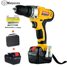21V Cordless Rechargeable Screwdriver Li ion Torque Drill Mini Electric Screwdriver Household  Waterproof Power Tools Eu Plug