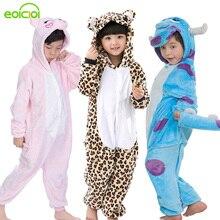 Onesie Pajamas Children Sleepwear Girls Kigurumi Winter Kids Boys Cute Set Soft Pig Animal