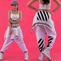 2016 women Hip hop dance trousers jazz dance ds performance costumes hiohop clothes cotton female  pants