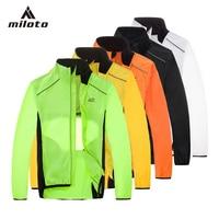 MILOTO Tour De France Breathable Cycling Rain Coat Jacket Bicycle Riding Wear Clothes Bike Windbreaker Reflective