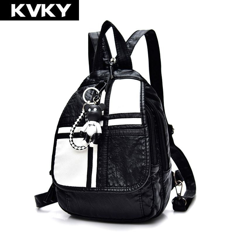 KVKY Brand Women Backpacks Fashion PU Leather Backpack High Quality Female Shoulder School Bag For Teenage Causal Travel mochila designer backpack women school bag 2017 backpacks for teenage girls famous brand leather backpack black fashion high quality