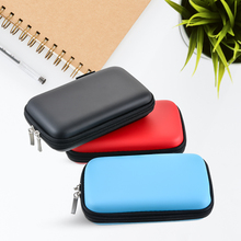 Zipper Earphone Wire Organizer Bags Box Data Line Cables Storage Case Container Coin Headphone Protective