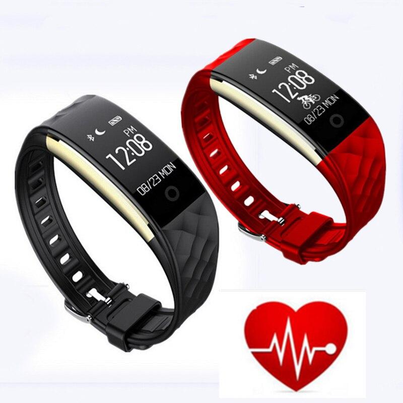 <font><b>S2</b></font> <font><b>Bluetooth</b></font> Smart Band Браслет Heart Rate Мониторы IP67 Водонепроницаемый SmartBand браслет для Android IOS телефон трекер