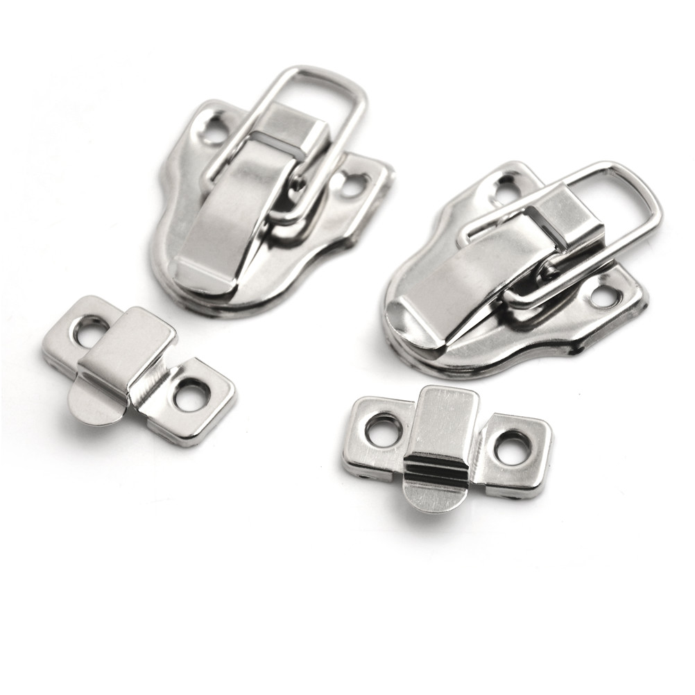2Pcs 40*56MM Vintage Jewelry Wood Box Hasps Drawer Latches Decorative Suitcases Hasp Latch Buckle Clasp Furniture Hardware