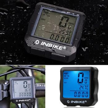 INBIKE przewodowy rowerowy licznik wodoodporny podświetlenie lcd cyfrowy rowerowy komputer rowerowy prędkościomierz garnitur dla większości rowerów tanie i dobre opinie Przewodowego stoper LCD Digital Bicycle Odometer