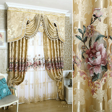 2016 New Curtains For Dining Living Bedroom Room 1pc curtain + 1pc Tulle Custom luxury European water soluble embroidery screens 1pc new 6es7321 1bh02 0aa0