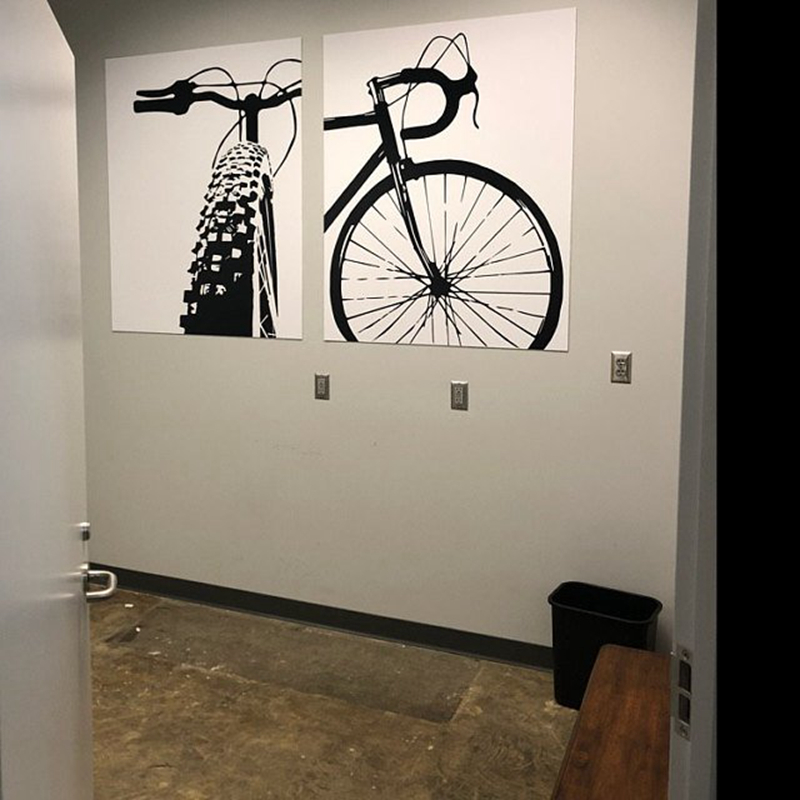 Bicycle Motivational Art Cycling Canvas Painting  3