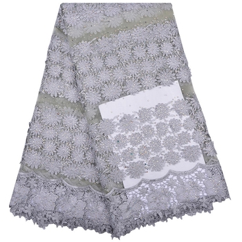 African Laces Fabrics Embroidered Nigerian Guipure French Lace High Quality African French Net Lace Fabric A1164