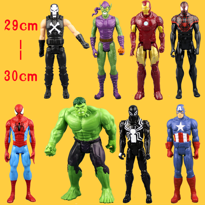 (NO Box)Free Shipping An Amazing Spider-Man Captain America Iron Man <font><b>Spiderman</b></font> 30CM Ultra Action Figure Toys