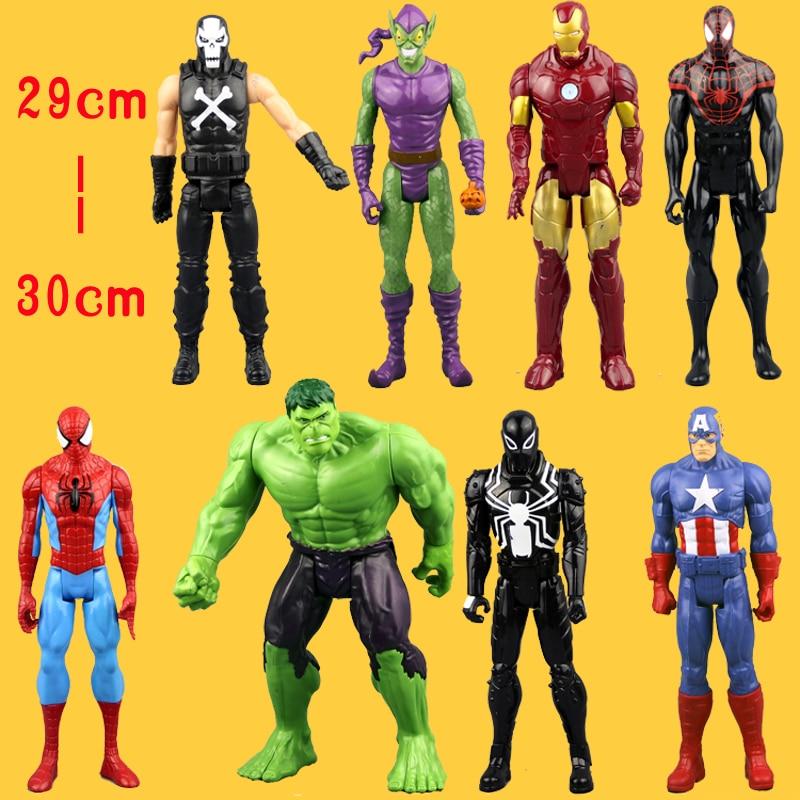 (NO Box)Free Shipping An Amazing <font><b>Spider-Man</b></font> Captain America <font><b>Iron</b></font> Man Spiderman 30CM Ultra Action Figure Toys