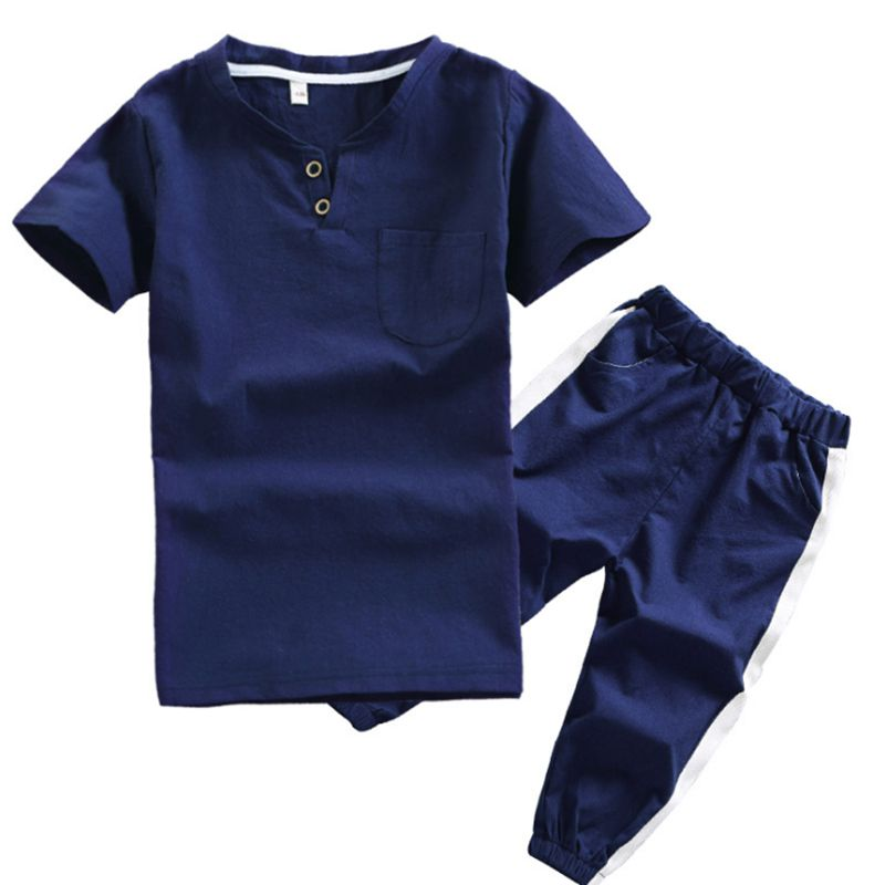 Children Clothes Boy Summer Suit Short-Sleeved T-shirt +Anti-Mosquito Sports Pants 2Pcs Kids Clothing 2018 New Boy Set Costuming 2017 new baby boys clothing set 2pcs kids clothes cartoon cat cute boy suit fashion new boy s summer t shirt pants toddler suits