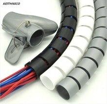 1 Meter Draht Veranstalter Kabel Protector Coiled Rohr Flexible Kabel Management Draht Wrap Ordentlich Kabel Wickler Draht Lagerung Rohr