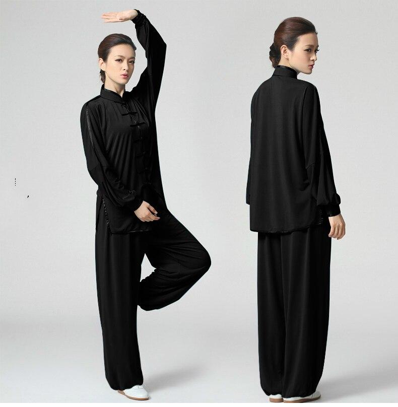 ̿̿̿(•̪ )Nueva tai chi ropa elasticidad tejido de punto para hombres ...