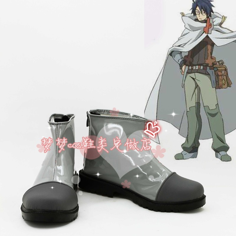 Log Horizon Shiroe Halloween Short Boots Cosplay Shoes Anime Custom made-in Shoes from Novelty & Special Use    1