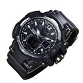 Sports Watches LED Digital Military Multifunctional Automatic Waterproof   Men Fashion Watches Quality Clock Wristwatch black