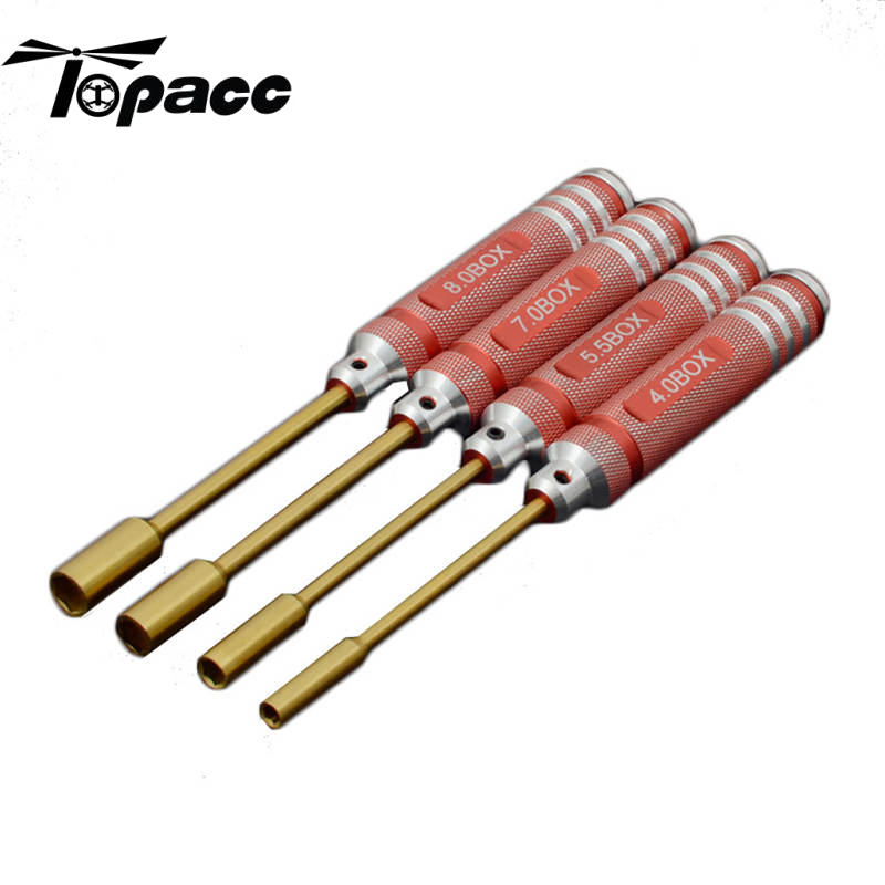 4Pcs ONERC HSS Titanium Hex Screwdriver Nut Key Socket Driver Set Screw Driver For RC Toys