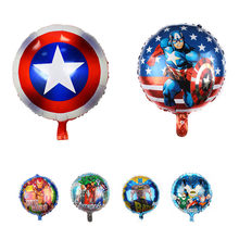 18 inch Super Hero Balloons Avengers Spiderman Batman Foil Balloon Children Birthday Party Supplies Baby Toys Birthday Supplies(China)