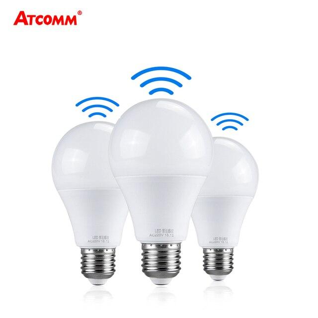 Ampoule LED 27 Light Bulb With PIR Motion Sensor 10W 15W 20W 220V Smart E27 Radar Lamp 6500K A65 A70 A80