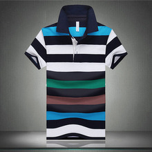 Famous Brand Men Striped Polo Homme Shirts 2016 Patchwork Short Clothing Camisa Polos Tops Tees Shirt Uniform shirts Uomo uk