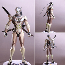 Shooting games characters Genji figures toys for collection model OW Action Figure dowin ow about size 10cm action figure tracer game widow maker d va mei genji hanzo mccree soldier 76 bastion