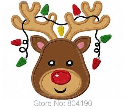 """Ev ve Bahçe'ten Yamalar'de 5.9 """"Noel Ren Geyiği Işık Çocuk Çocuk BÜYÜK Keçe IŞLEMELI Demir Yama Üzerinde Dikmek Tshirt APLIKE rozet x'mas hediye'da  Grup 1"""