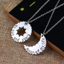 20 Pairs/Lot Game of Thrones Daenerys Targaryen Khal Drogo My Sun and Stars Moon of My Life Couple Necklace Valentine's Day Gift(China)