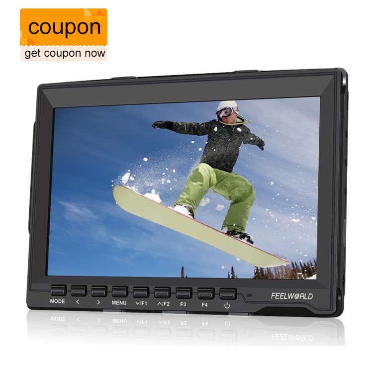 цена на Feelworld FW-759 1080P Camera Field Monitor 7 Ultra HD 1280x800 IPS Screen FPV Monitor with 1 Mini HDMI cable for BMPCC