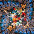 100% Bufanda de Seda Bufanda de Las Mujeres Del Leopardo de La Mariposa de La Flor Pañuelo Pañuelo De Seda 2017 Superior Pequeña Bufanda de Seda Cuadrada de Lujo Regalo de La Señora
