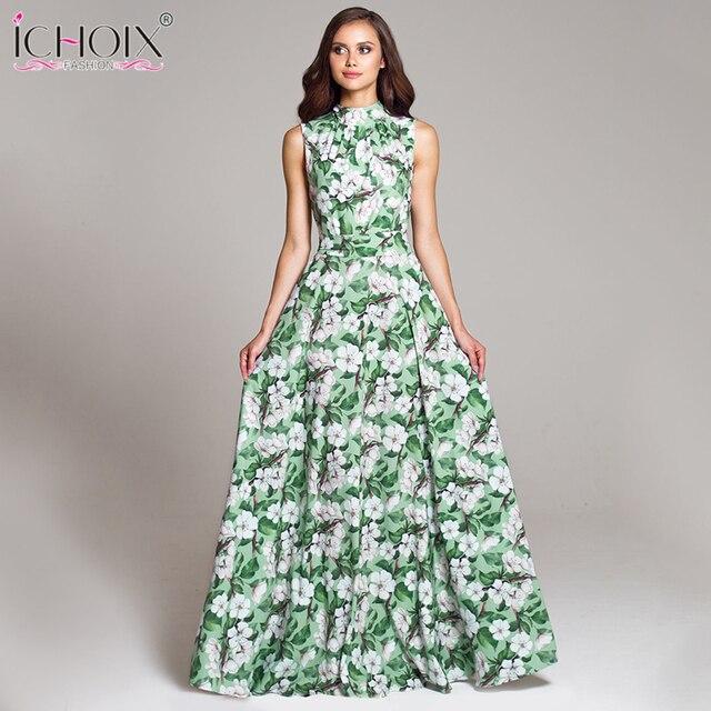 Women Vintage Evening Party Long Dress Summer Plus Size Floral Print