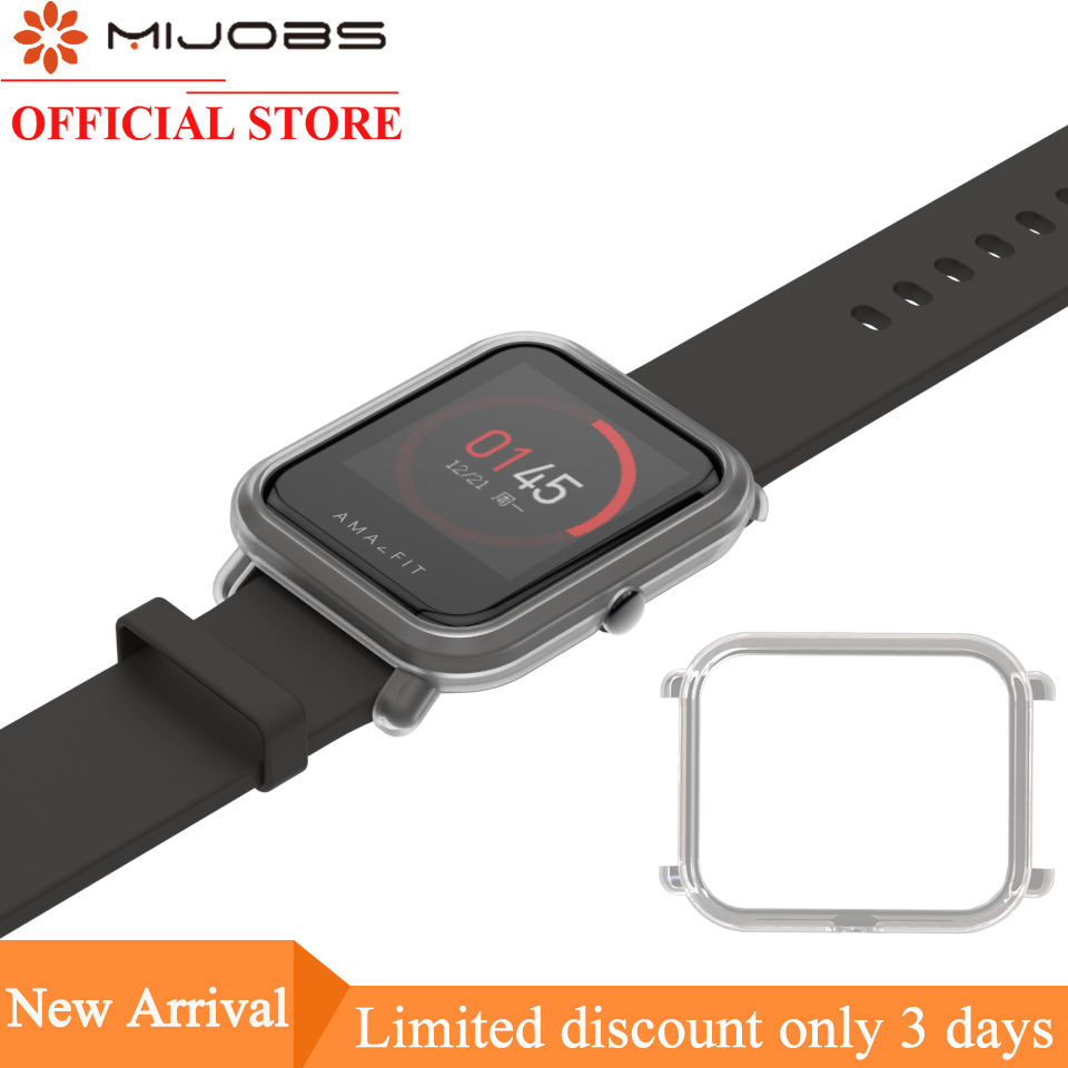 Mijobs Wristands Protective Case Cover For Xiaomi Huami Amazfit GTS Bip BIT PACE Lite Youth Watch Strap Bracelet PC Shell Bumper