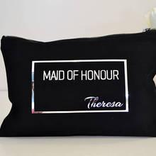 Индивидуальный логотип Подарочный Make Up косметички надпись «Bride Tribe» свадьбы уникальный подарок для невесты вечерние сумки Кошельки сцепления Свадебные сувениры